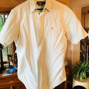 Ralph Lauren seersucker short sleeve shirt